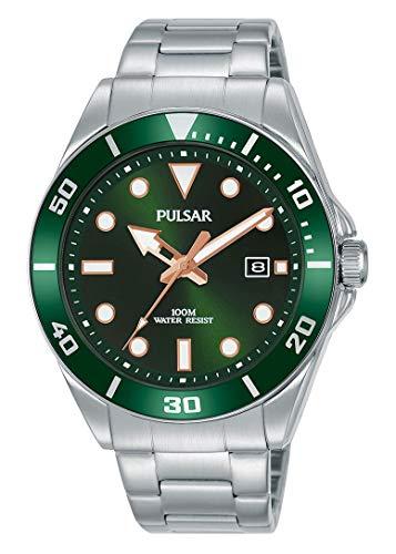 Seiko UK Limited - EU Pulsar Reloj de Vestir Inspirado en Diver con Pulsera de Acero Inoxidable PG8301X1