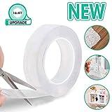 LIUMY Mehrzweck 5M Nano Klebeband, wiederverwendbare & abnehmbare & waschbar doppelseitige Klebestreifen, nahtlose spurlose Klebeband Küche Halter (5M / 16.5ft / 2mm Nano Tape)