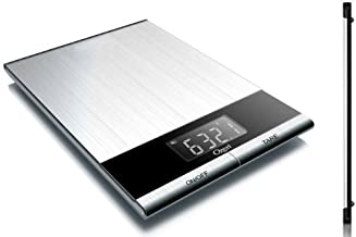 Ozeri ZK010 Ultra Thin Professional Digital Kitchen Food Scale, Elegant Stainless Steel