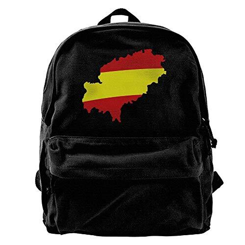 hengshiqi Mochila Backpack, Ibiza Espana F2 Outdoor Backpack School Bags Travel Backpack Canvas Christmas Backpack Unisex Boys and Girls
