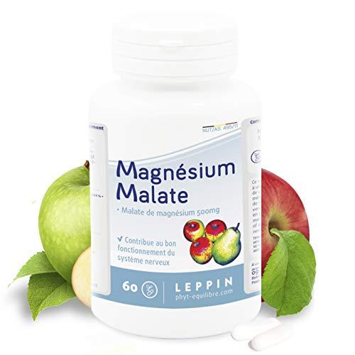 Leppin - Magnesiummalat 60 Kapseln - Chelator für Schwermetalle - hohe Bioverfügbarkeit - natürliches Nahrungsergänzungsmittel