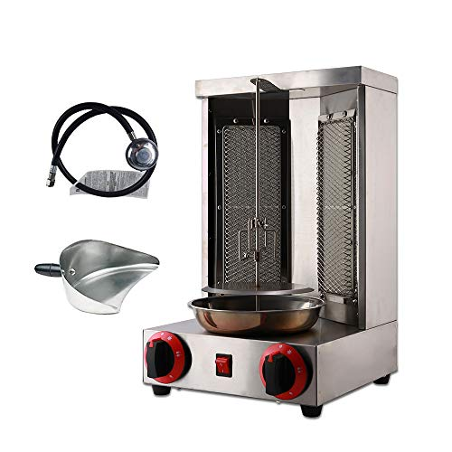 Zz Pro Shawarma Grill Machine Propane Doner Kebab Machine Vertical Broiler with 2 Burner