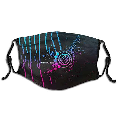 Blink 182 For Kids Pm2.5 Face Bandanas Dust Scarf And Equipped With Two Replaceable Activated Carbon Filters Adjustable