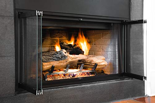 Superior-Lennox Prefab Fireplace Door   Easy to Install   Frame Included   Stop Annoying Drafts