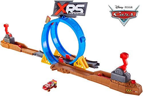 Disney Cars FYN85 - XRS Xtreme Racing Serie Crash Looping Spielset, Spielzeug ab 4 Jahren
