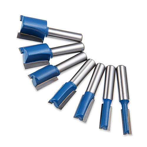 7tlg 8mm Schaft Nutfräser, Router Bits 6mm 8mm 10mm 12mm 14mm 18mm 20mm
