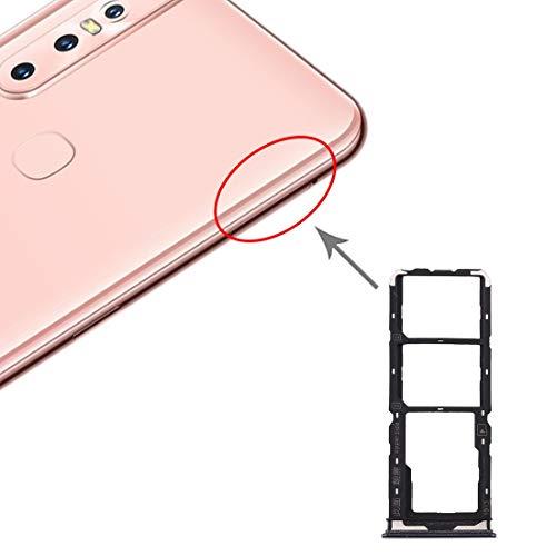 Compatibele Vervangings SIM-kaart lade + SIM-kaart lade + Micro SD-kaart lade for Vivo Y7s Accessory (Color : Black)