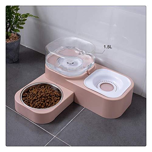 NYKK 1.5l Haustier Hund Katze Schüssel Automatische Feeder Brunnen Wasser Trinken Für Hunde Indoor Kätzchen Welpenschüsseln Fütterung Container Pet Supplies (Farbe: grau) lalay (Color : Pink)