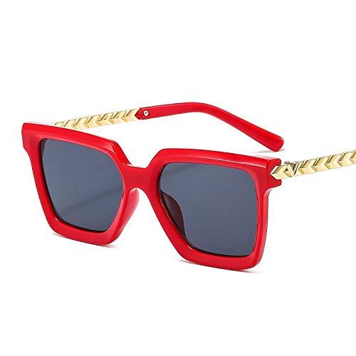 chuanglanja Gafas De Sol Juveniles Gafas De Sol Con Montura Metálica Gafas De Sol Con Protección Gafas De Sol Mujer Hombre Pc Color Gradient Lens-Color-M