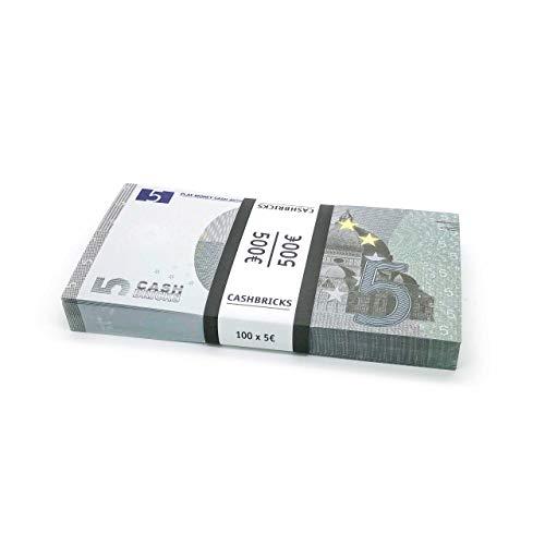 Cashbricks 100 x €5 Euro Spielgeld Scheine Bündel