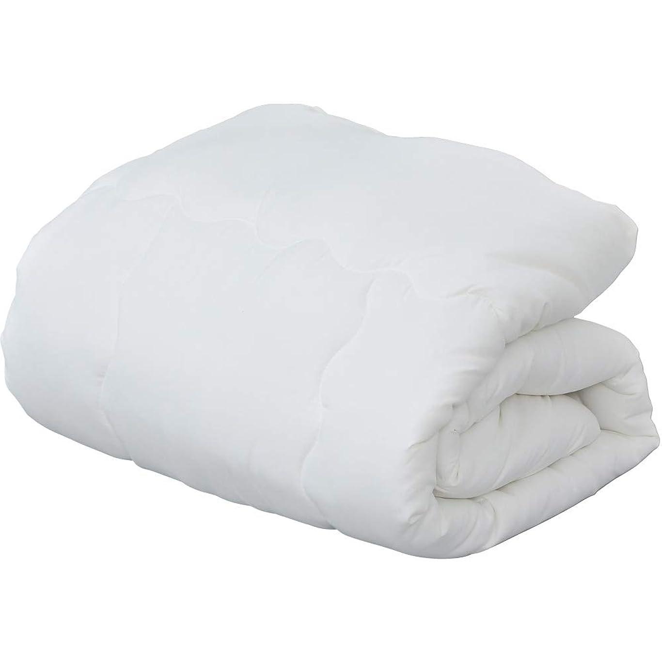 に負ける使用法残りアイリスプラザ 掛け布団 洗える ホコリの出にくい ポリエステル掛布団 シングルロング ホワイト
