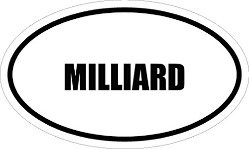 "6"" printed MILLIARD name oval Euro style vinyl decal sticker"