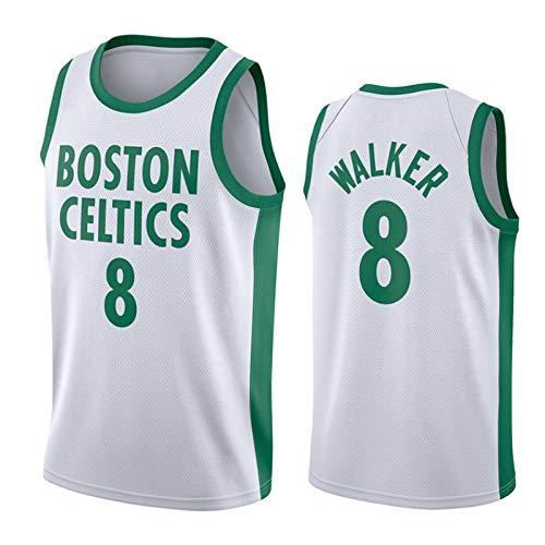 Camisetas De Baloncesto para Hombre, Boston Celtics # 0 Jayson Tatum # 8 Camisetas De Fanáticos De Kemba Walker Camisetas De Baloncesto Camisetas Bordadas Ropa Depor NO.8-L(180~185CM)