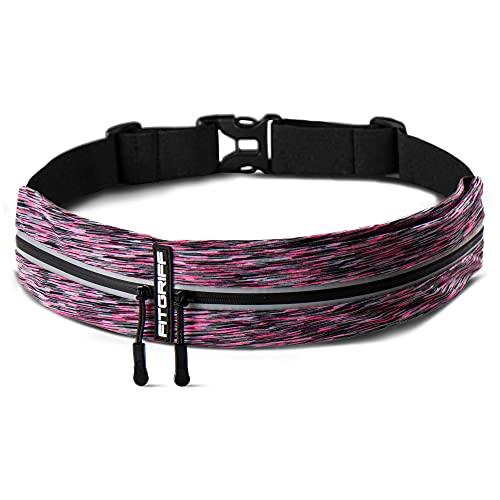 Fitgriff Riñonera Running - Mujer & Hombre Impermeable Cinturon - para Deportiva, Todas Movil, Correr, Caminar, Sport, Ciclismo, Walking - Running Belt (Pink 2)