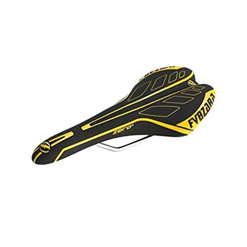 Sellino professionali per ciclismo Sella confortevole per bicicletta (giallo)