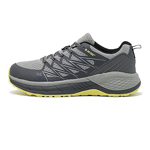 Hi-Tec Trail Destroyer, Zapatillas para Caminar Hombre, Carbón Negro Limoncello, 46 EU