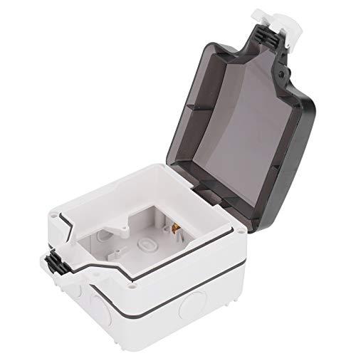 Caja de enchufes a prueba de agua para exteriores, caja de interruptor de PC, protección a prueba de lluvia de 5 orificios multifunción IP66, caja de enchufes de protección para exteriores, para prote
