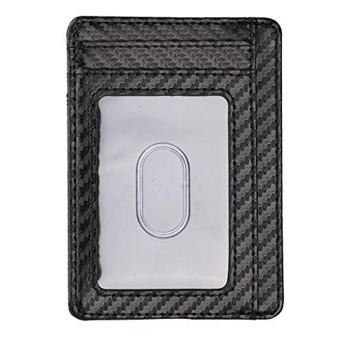 PENG Ultra Slim RFID Bloqueo Cartera Minimalista Funda para Tarjeta de Visita...