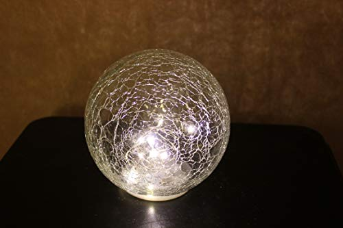 LED-bal/bal gemaakt van helder glas, diameter 12 cm, warm licht