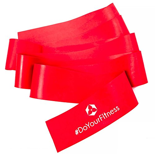 Fitnessband »Cleo« / In 5 Zugstärken. Fitness-Band, Sportband, Gymnastikband, Reha-Band für Damen, Herren und trainierte Sportler. (rot)