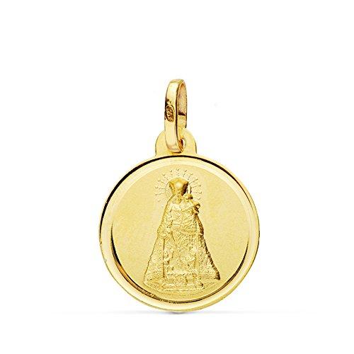 Medalla Virgen de los Desamparados 16 mm en oro de 18 Ktes