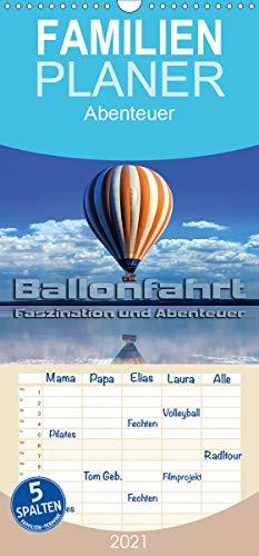Ballonfahrt - Faszination und Abenteuer - Familienplaner hoch (Wandkalender 2021, 21 cm x 45 cm, hoch)
