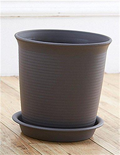 XYZ A vita alta in plastica Vaso di fiori con vassoio, piante grasse Holder, Planter Fiore delicato durevole ( colore : Marrone scuro , dimensioni : 14.6*9.5*14.6cm )