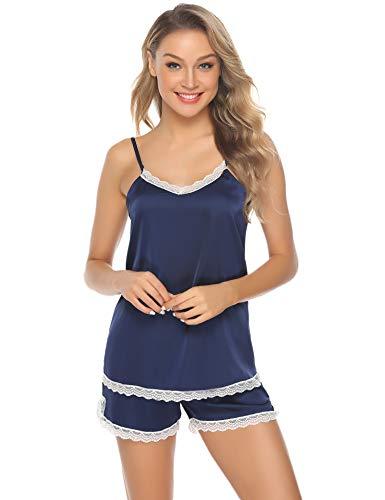 Hawiton Pijama Mujer Verano Corto Raso Pijamas