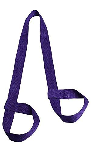 PlayCool - Cinghia per tappetino da yoga resistente, per tappetino da yoga, colore: viola