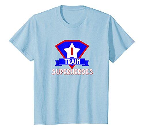 Kids I Train Superheroes T-Shirt Teachers & Personal Trainers Tee 4 Baby Blue