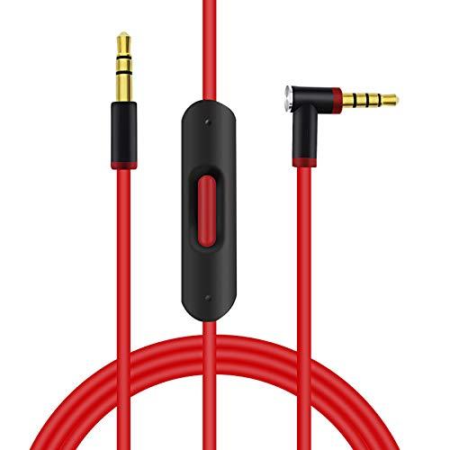 SINDERY kompatibel mit Studio 3 Solo 3 Verlängerungskabel Ersatzkabel Remotetalk-Kabel Studio 3 / Studio 2.0/ Solo3 / Solo2 / Solo Pro Wireless 1.4m/4.6ft (Rot Schwarz)