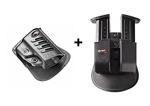 Fobus Pistol Case Paddle Holster + Double Magazine Pouch for Beretta PX4 Storm Full Size,Compact,Sub-Compact,Type F,SD, INOX,M9,92A1 & 96A1,96 Vertec 40 Cal,Beretta 90-Two .40 S&W,92FS,92 Compact 9mm