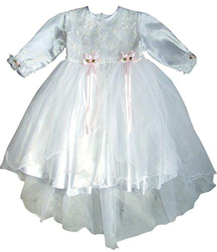 Seruna Tauf-Kleid JE14 Gr. 80/86 Baby-Kleider für Mädchen zur Taufe u. Hochzeit Geschenk-e für Babies