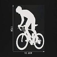 車のステッカーの装飾 10.6CM * 17センチメートルの自転車乗馬装飾車ステッカー柄ビニールデカール (Color Name : Silver)