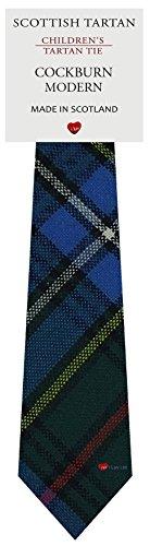 I Luv Ltd Garçon Tout Cravate en Laine Tissé et Fabriqué en Ecosse à Cockburn Modern Tartan