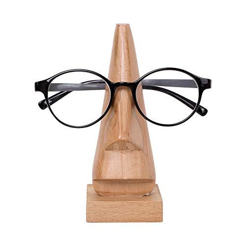 S.B.ARTS - Porta Occhiali in Legno a Forma di Naso, Stile Classico, a Vapore, da Spiaggia, per Occhiali da Vista