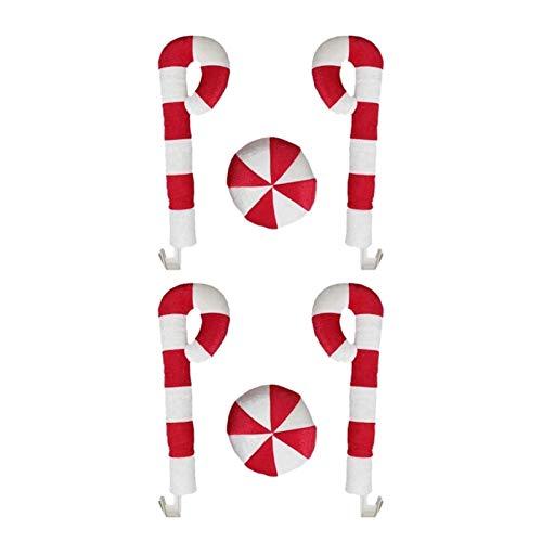 HIS Arosos y Nariz de Reno de automóviles, astas de Ventanas de Coche de Vacaciones y Decoraciones de Coches de Navidad de Nariz roja con Jingle Bell 2 Sets (Color Name : White Red)