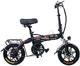 Bicicletas Eléctricas, Bicicleta plegable de la bicicleta eléctrica de la bicicleta ultra ligera portátil con motor sin escobillas de 400W, scooter eléctrico de aluminio ajustable plegable para el cic