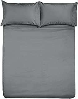 Angel Bedding Full Size Sleeper Sofa Sheet Set (54 x 72 + 6 Deep) - Solid Grey 1800 Series Brushed Microfiber Bed Sheets for Sleeper Sofa, Hide A Bed