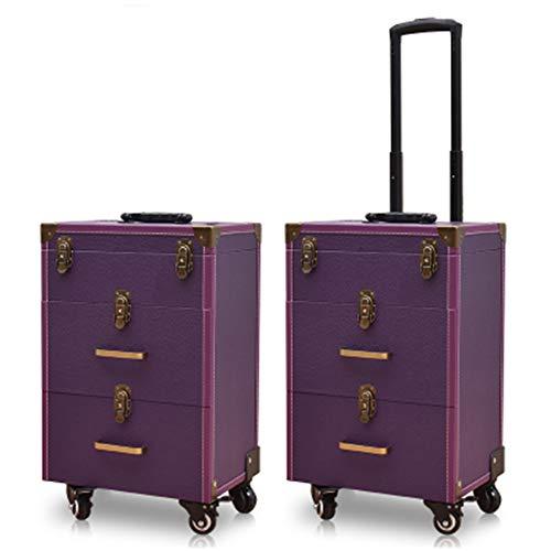 Boîte À Outils De Coiffure De Grande Capacité Nail Technician Trolley Case Cosmetics Beauty Trolley Box Travel Makeup Case Storage Box,B