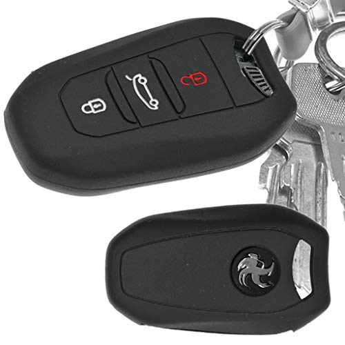 Auto Schlüssel Hülle Silikon Schutz Cover Schwarz für Citroen C4 DS4 DS6 DS5 Peugeot 208 508 2008 4008