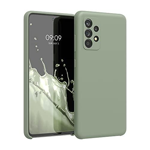 kwmobile Cover Compatibile con Samsung Galaxy A52 - Cover Custodia in Silicone TPU - Back Case Protezione Cellulare Verde Grigio