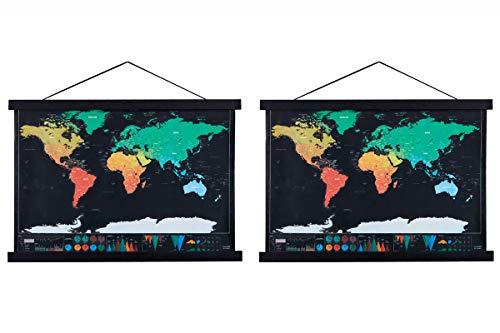 Benjia Magnetisch Posterschiene, Magnet Magnetische A2 Posterrahmen Holz Posterleiste Posterhänger für drucken Kunstwerk (42cm, Schwarz,2packs)