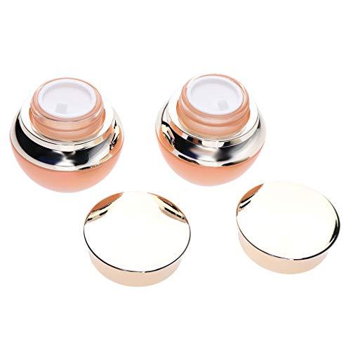 Fenteer 2pcs Pots Vide de Maquillage en Verre Bocaux à Visser Couvercles Peuvent Pots Crème Baume à Lèvres Conteneurs - 25g