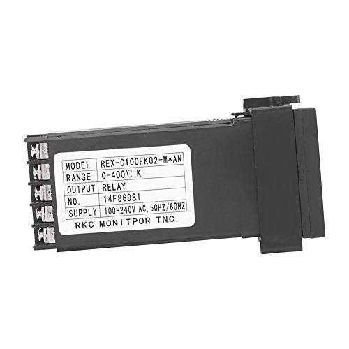 Weikeya Controlador de Temperatura Tradicional, Alarma de Temperatura Interruptores de Temperatura de Temperatura Controlador de Temperatura PID con plástico