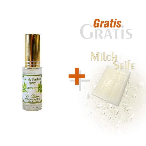 Le Blanc Eau de Parfum Maiglöckchen 12ml und Gratis Milchseife 25g