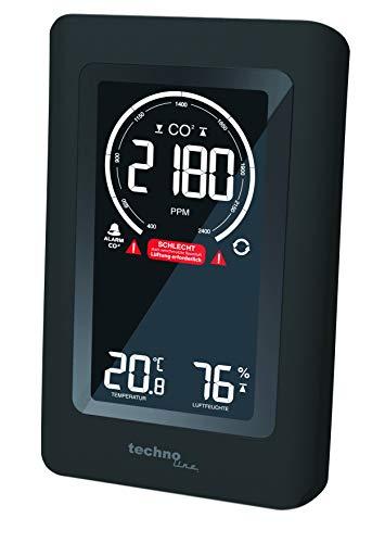 Technoline Co2 Messgerät WL1030, CO2-Anzeige, CO2-Ampel mit grafischen Lüftungsempfehlungen, NDIR