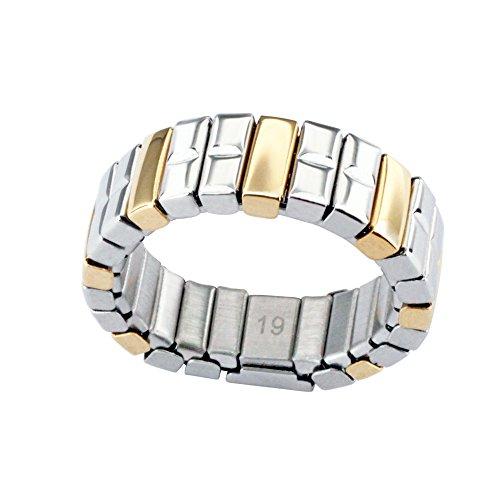 Retro Flex Magnetring flexibel Bicolor Gold Silber Energetix 4you 1214 Magnetix - 20