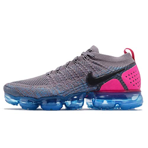 Nike Air Vapormax Flyknit 2, Zapatillas de Running Hombre, Gris (Gun Smoke/Black/Blue Orbit/Pink Blast 004), 41 EU