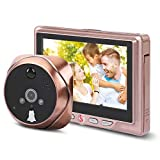 DAUERHAFT 4.3inch HD Screen 120° Wide-Angel Lens Door Camera 3X Digital Zoom,for Home Security System(Built-in Lithium Battery 3000MA)
